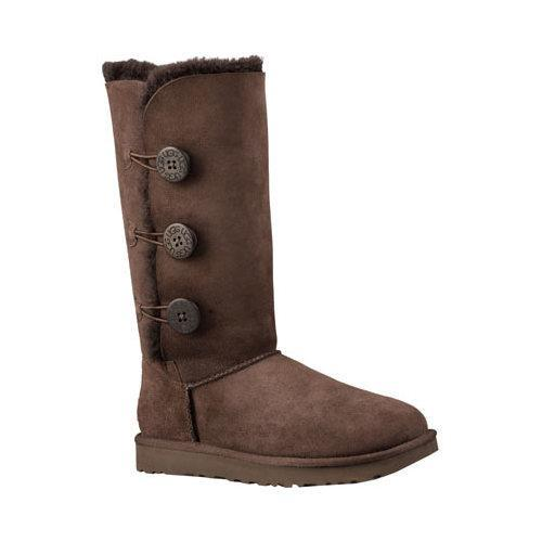 6cd972ee8 Shop Women's UGG Bailey Button Triplet II Boot Chocolate 2 - Free Shipping  Today - Overstock - 13472260