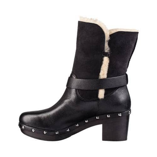 a76fa356fbb Women's UGG Brea Boot Black Leather   Overstock.com Shopping - The Best  Deals on Clogs & Mules