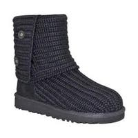 Women's UGG Classic Cardy Sweater Boot Black