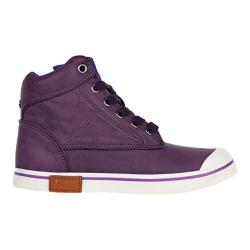 Children's UGG Damian Distressed Sneaker Electric Purple Synthetic Leather