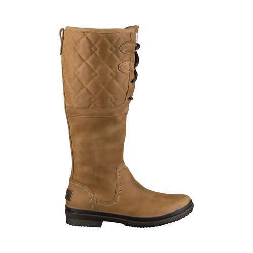 Women S Ugg Elsa Deco Quilt Waterproof Boot Chestnut