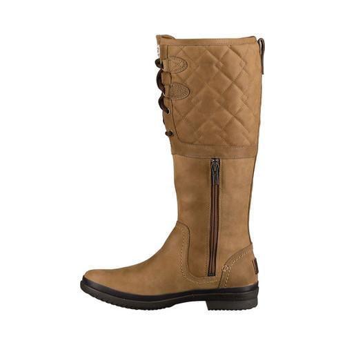 Shop Women S Ugg Elsa Deco Quilt Waterproof Boot Chestnut