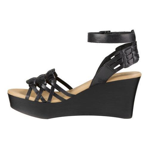 f1e09bfe018 Women's UGG Farrah Ankle Strap Wedge Sandal Black   Overstock.com Shopping  - The Best Deals on Wedges