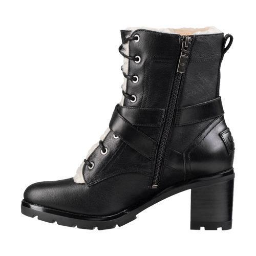 Shop Women S Ugg Ingrid Boot Black Leather Free Shipping
