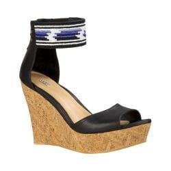 Women's UGG Jacinda Serape Beads Ankle Strap Sandal Black