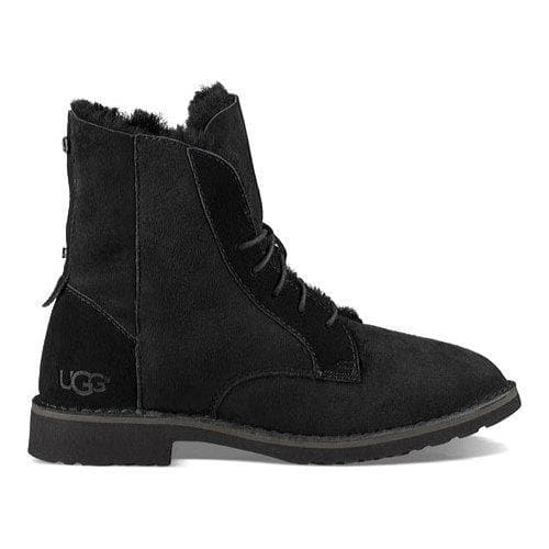 f5ac5a1bd1c Women's UGG Quincy Lace Up Boot Black | Overstock.com Shopping - The Best  Deals on Boots