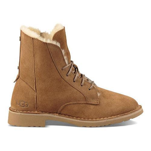 Shop Women S Ugg Quincy Lace Up Boot Chestnut Free
