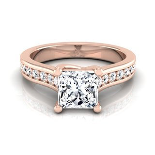 Link to 14k Rose Gold IGI-certified 1 1/3ct TDW Princess-cut Diamond Solitaire Engagement Ring Similar Items in Rings