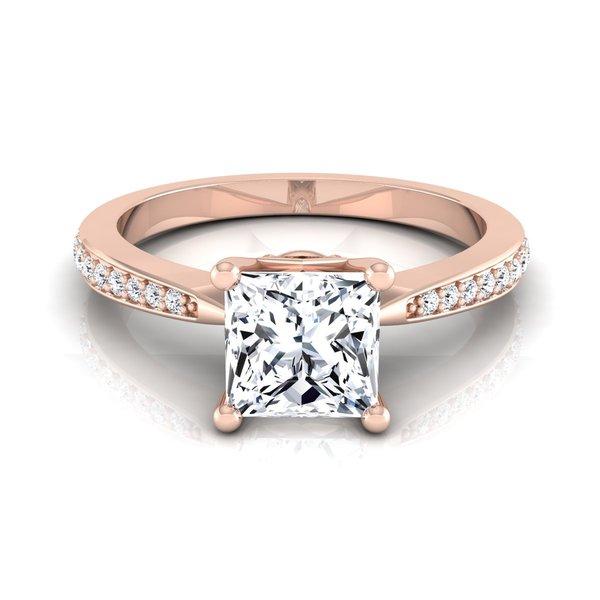 Shop 14k Rose Gold IGI-certified 1 1/8ct TDW Princess-cut