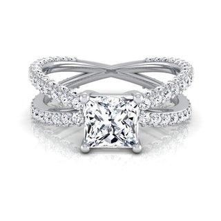 Link to 14k White Gold IGI-certified 2 1/4ct TDW Princess-cut Diamond Engagement Ring Similar Items in Wedding Rings