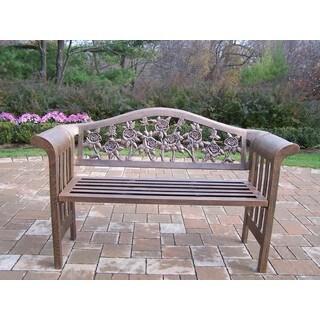 Oakland Living Corporation Queen Camellia Antique Bronze Iron Bench