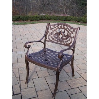 Lattice Cast Aluminum Arm Chair