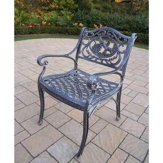 Lattice Cast Aluminum Arm Chair