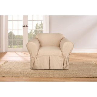 Captivating Sure Fit Waverly Strands Chair Slipcover (2 Options Available)