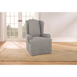 Sure Fit Waverly Strands Wing Chair Slipcover