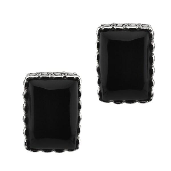 Large Black Onyx Stud Earrings