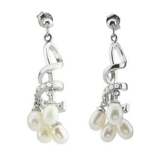 Genuine Pearl Dangle Earrings