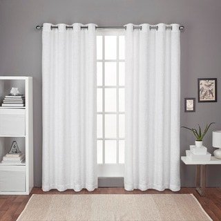 ATI Home Criss Cross Chenille Room Darkening Grommet Top Window Curtain Panel Pair