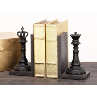 Urban Designs Decorative Chess King and Queen Book End Set
