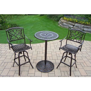 Elegance Cast Aluminum 3-piece Outdoor Bar Set