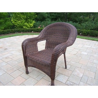 Calabasas Resin Wicker Arm Chairs (2 Pack)