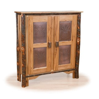 Rustic Double Pie Safe - Hickory & Oak or All Hickory