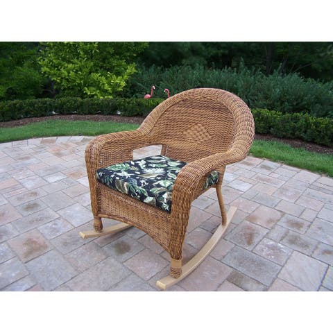 Pair of Calabasas Cushioned Resin Wicker Rockers (2 Pack)