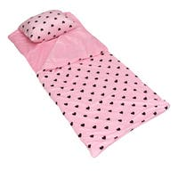 Love Hearts Printed Microplush Slumber Bag