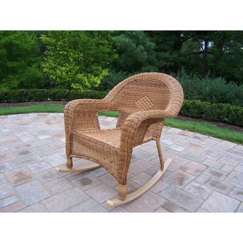 Pair of Calabasas Resin Wicker Rockers (2 pack)