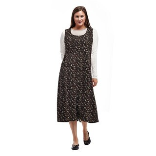 La Cera Women's Sleeveless Corduroy Dress