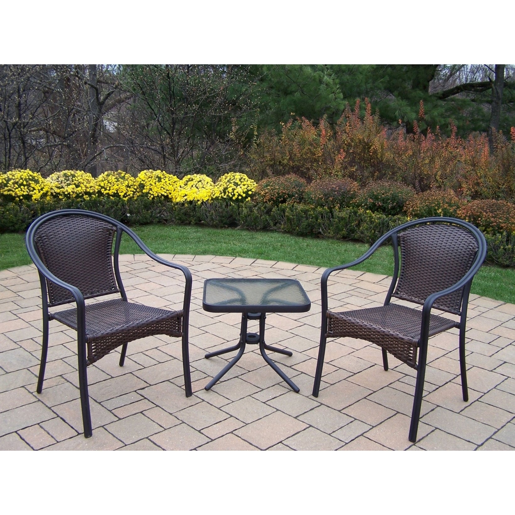 Oakland Corporation Sedona 3 Piece Set with Two Stackable...
