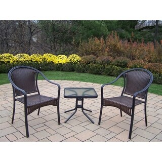 Sedona 3 Piece Set with Two Stackable Chairs and 20-inch side table