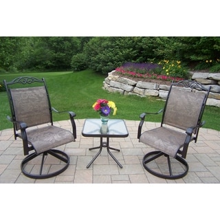 Radiance 3 Piece Chat Set with Two Swivel Rockers and side table