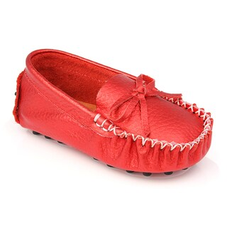 Augusta Baby Children's Metallic Red Genuine Leather Loafers