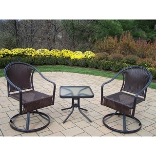 Sedona 3 Piece Set with Two Swivel Rockers and 20-inch side table