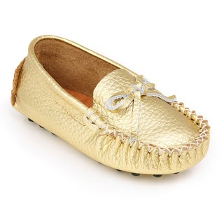 Augusta Baby Gold Genuine Leather Children's Loafers