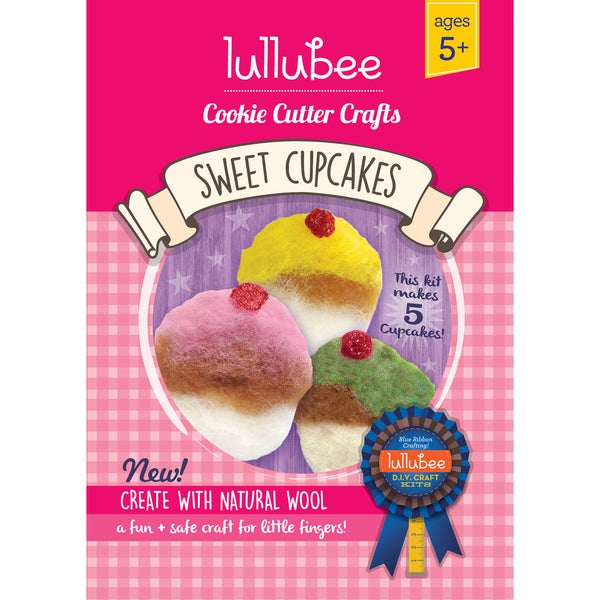 Lullubee Cookie Cutter Crafts 'Sweet Cupcakes' Wool Craft Set