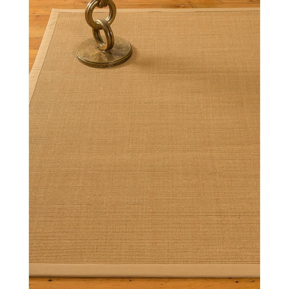 Natural Area Handmade Shiasta Sisal Beige Rug (4'x6') wit...