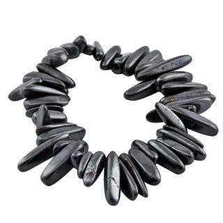 Handcrafted Hematite 'Grey Spikes' Beaded Bracelet (Brazil)