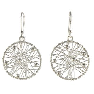 Handcrafted Sterling Silver 'Good Dream' Earrings (Thailand)