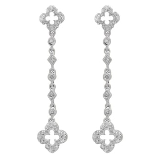 Elora 14K White Gold 1/3 ct. TDW White Diamond Ladies Dangling Drop Earrings (I-J, I2-I3)