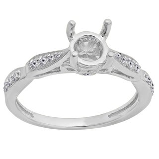 Elora 14k Gold 1/4ct TDW White Diamond Semi Mount Engagement Ring (No Center Stone) (I-J, I1-I2)