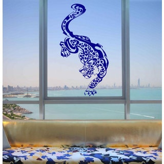 Japanese anime Leopard Sticker Decal size 33x52 Color Blue