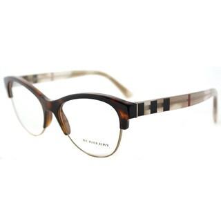 Burberry Light Havana Cat-Eye Eyeglasses (53mm)