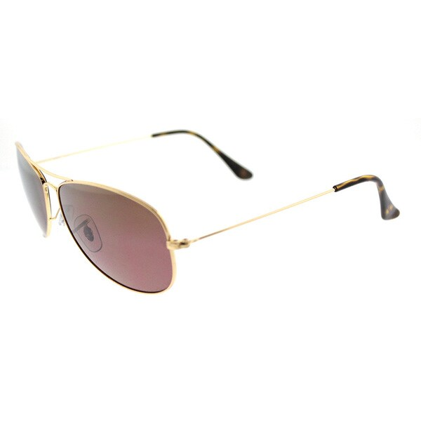 1800aa1e52 Ray-Ban Chromance Gold Aviator Sunglasses with Purple Mirrored Polarized  Lenses
