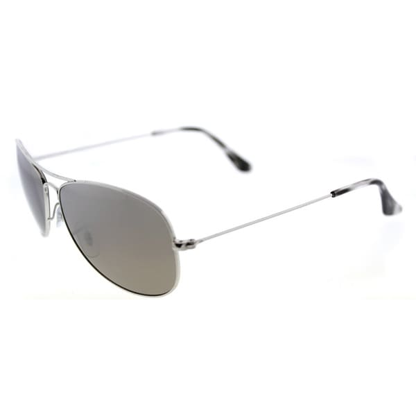 51279f9534 Ray-Ban Chromance Silvertone Metal Aviator Sunglasses with Silver Mirrored  Polarized Lenses