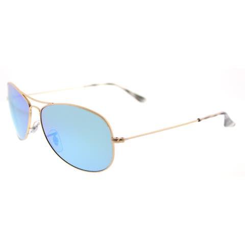 Ray-Ban RB 3562 112/A1 Chromance Collection Matte Gold Metal Blue Mirrored Chromance Polarized Lens Aviator Sunglasses