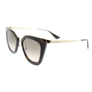 Prada Havana Cat-Eye Sunglasses with Brown Gradient Lenses