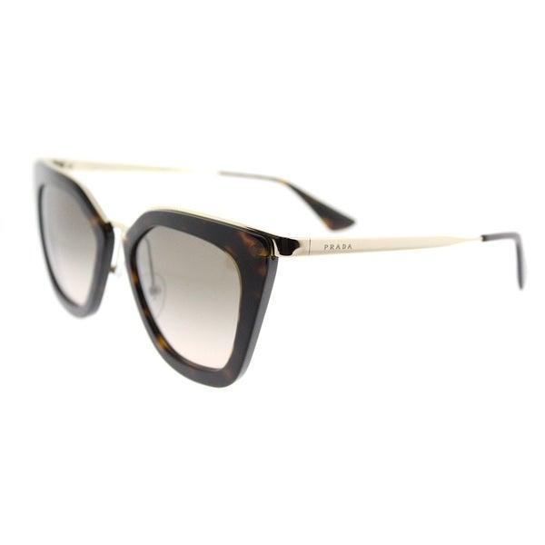 e3ccb50acd84 Shop Prada Havana Cat-Eye Sunglasses with Brown Gradient Lenses ...