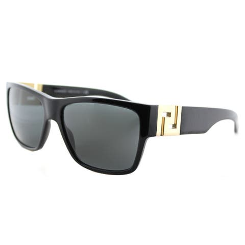 Versace Black Square Sunglasses with Grey Lenses